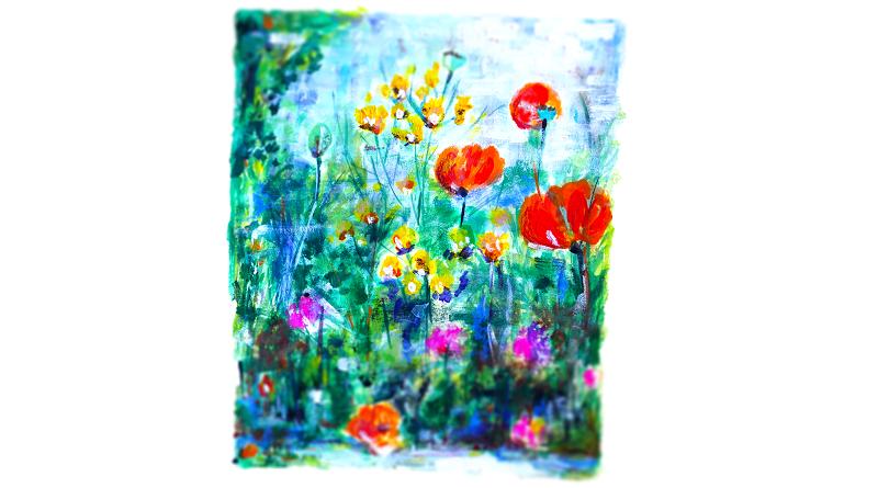 Gärtnerträume (c) Andreas Erber Gouache Farbe