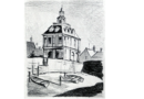 Haus in Finale Ligure (c) Andreas Erber Bleistift Skizze